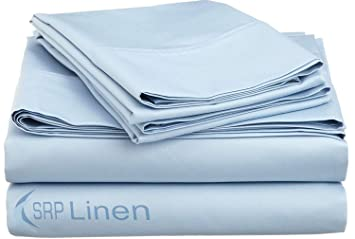 KING SIZE BLUE SOLID BED SHEET SET 800 THREAD COUNT 100/% EGYPTIAN COTTON