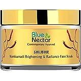 Blue Nectar Ayurvedic Kumkumadi Brightening Face And Anti Ageing Scrub - 50Gm