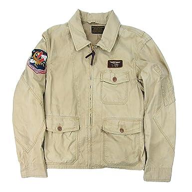 8be17e760 RALPH LAUREN Polo Men s Cotton Flight Jacket (Gallery Tan