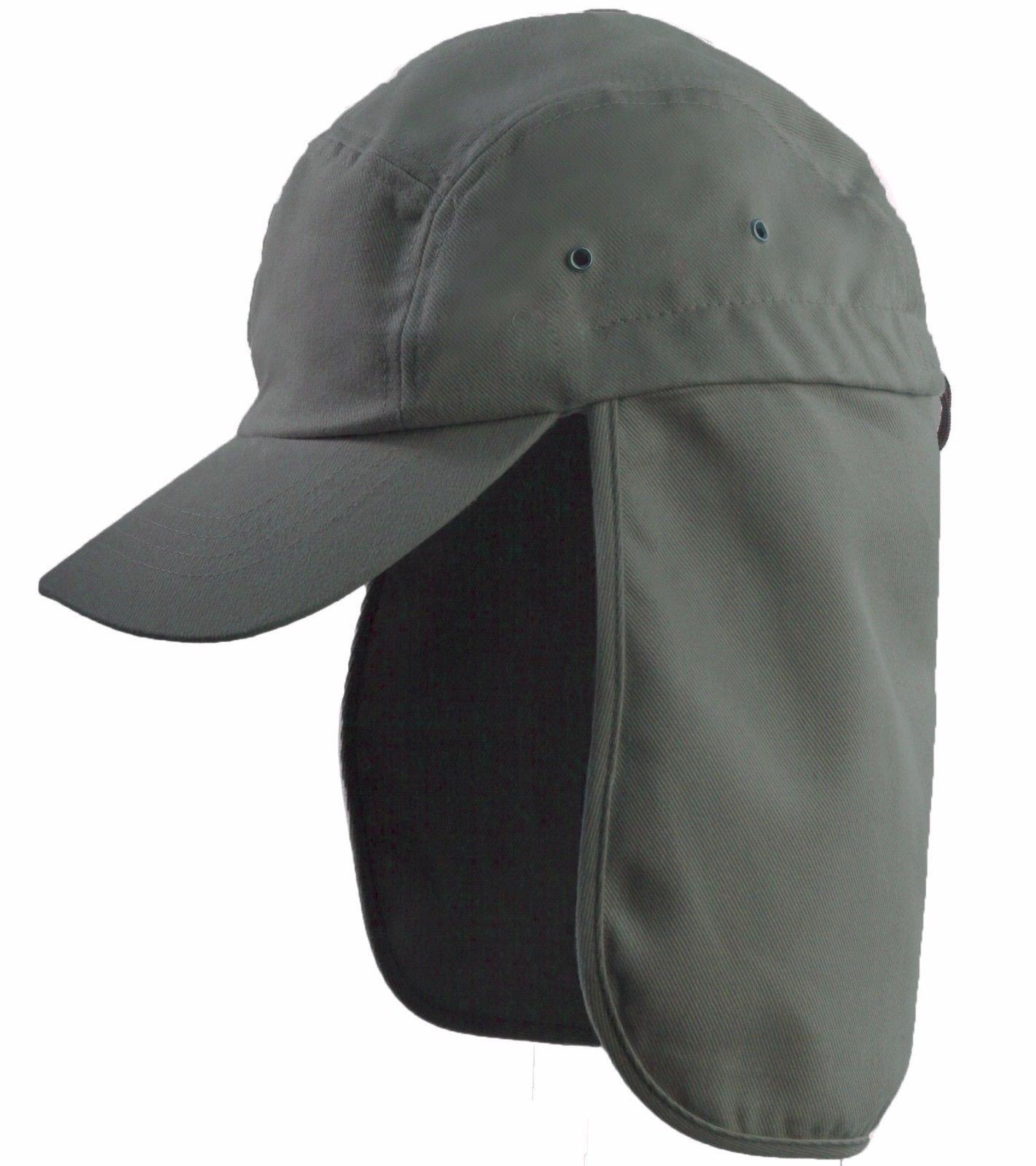 5a1a1199732 LA Gen Men s Cap Neck Cover Hiking Fishing Hunting Camo Army Bucket Sun Flap  (Olive)