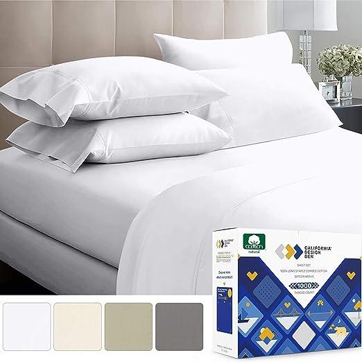 1000TC Pocket Grey Stripes 4-Piece Sheet Set 100/% Cotton All Size ! Long New