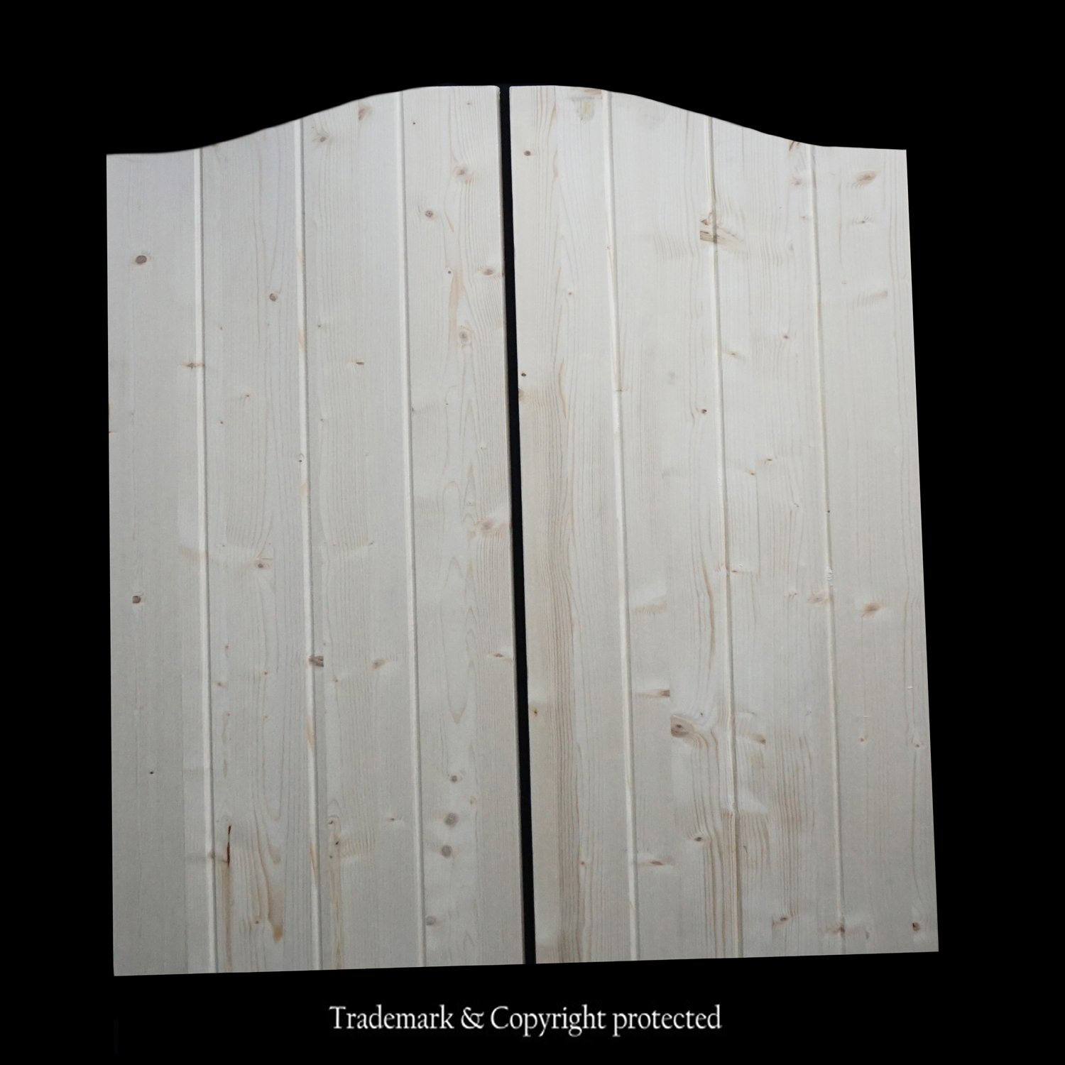 Cafe Doors by Cafe Doors Emporium Knotty-Pine Flush Style with V-Grooves Saloon Western Bar Door Saloon Western Style Swinging Bar Pub Door Includes Hinges Premade for 36W Finished Opening