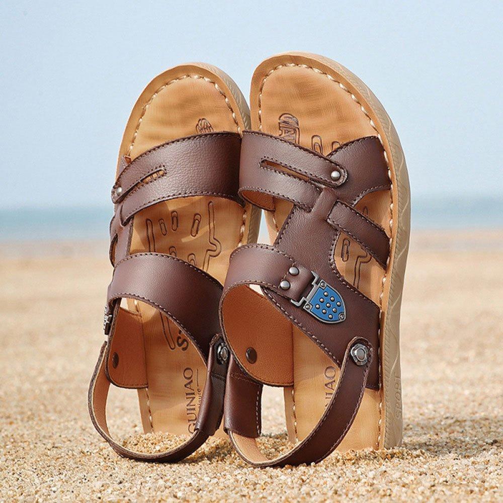 Herren Sandalen Sommer Männer Strand Schuhe Casual Hausschuhe Männer Sommer Braun 69eae8