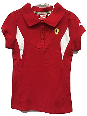 Polo Puma Ferrari Girls Red (Peque?o): Amazon.es: Ropa y accesorios