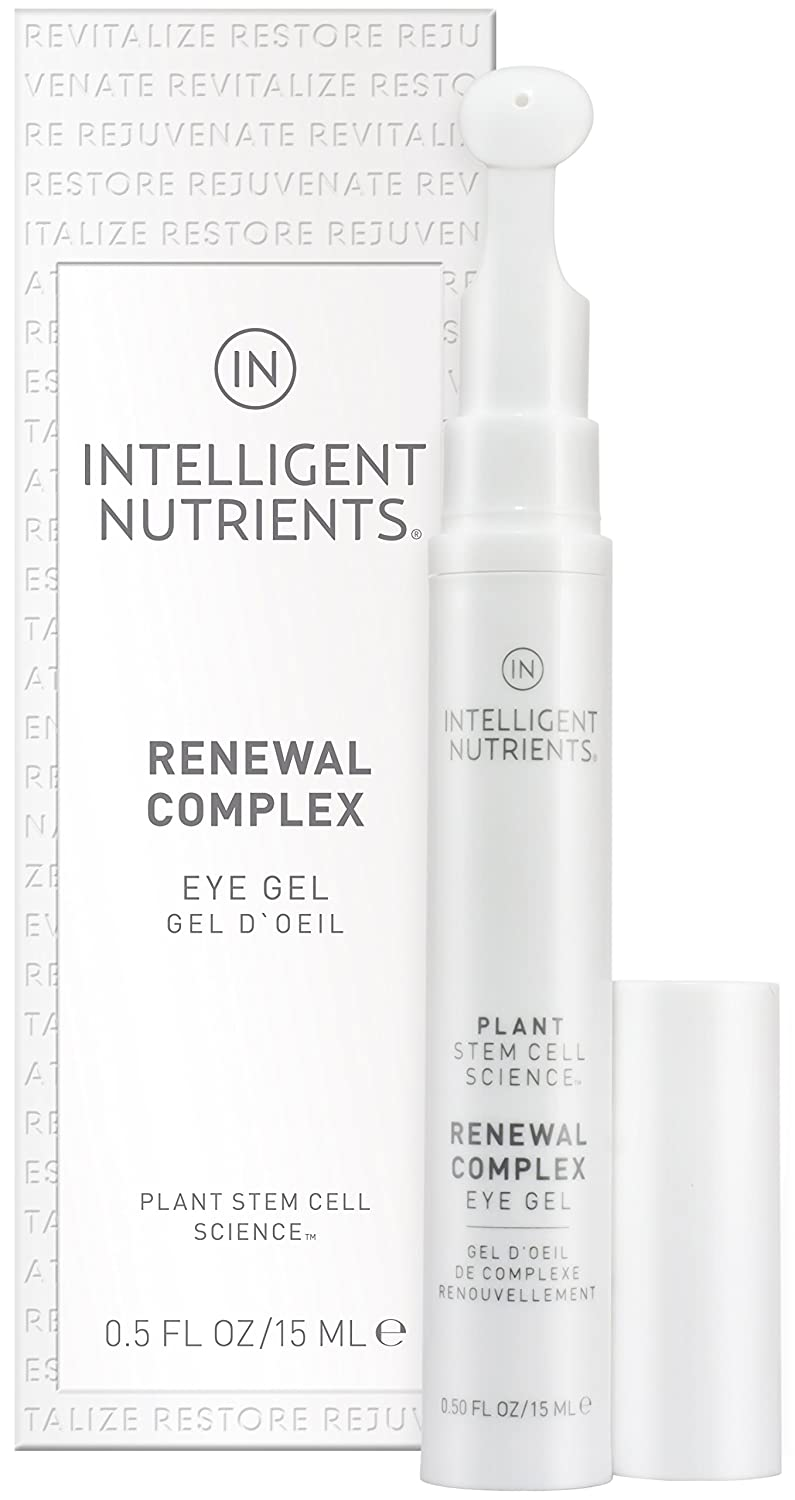 Intelligent Nutrients Renewal Complex Eye Gel - Plant Stem Cell Eye Treatment for All Skin Types, Clinically Proven (0.5 oz)
