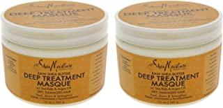 product image for Raw Shea Butter Deep Treatment Masque - Pack of 2 by Shea Moisture for Unisex - 12 oz Masque