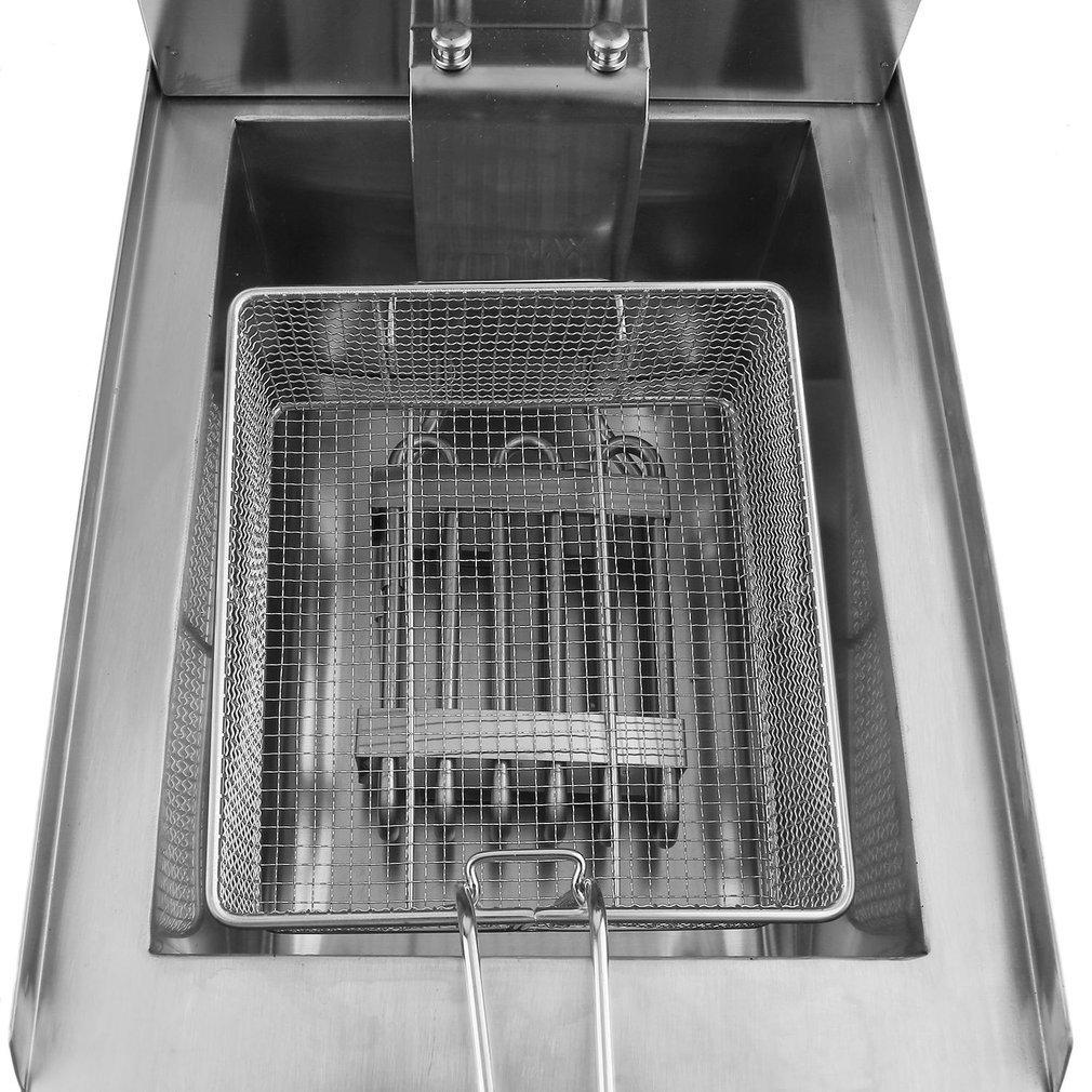 3000W Friteuse Professionnelle Kitechildheed Friteuse /Électrique Inox 10L Argent/é Friteuse Cuve Amovible Avec Filtre et Couvercle Visuel Sans BPA