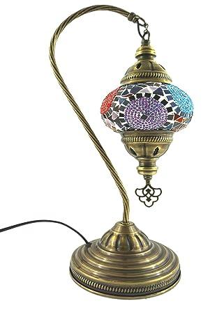 Hecha a mano con motivos orientales Turco lámpara de mesa ...