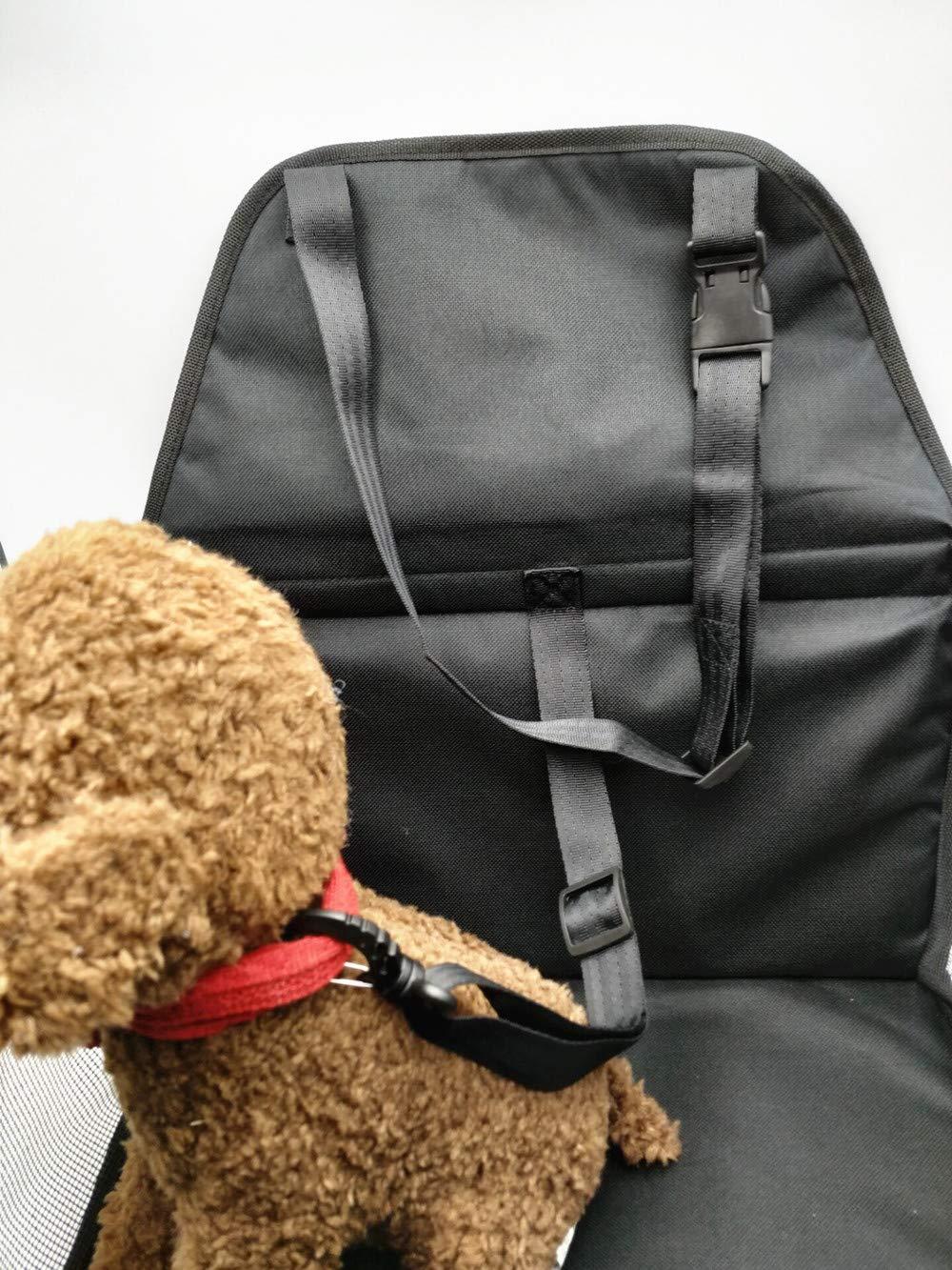 Oxford-Gewebe dick und bequem tragbar Haustier-Autotasche Sicherheitssitz-Schutztasche mit Clip On Sicherheitsleine f/ür kleine Hunde und Katzen Autositzkorb Autoteppich-Booster faltbar