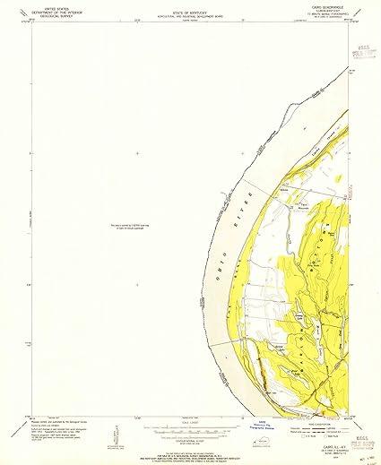 Amazon.com: Illinois Maps | 1954 Cairo, IL USGS Historical ... on