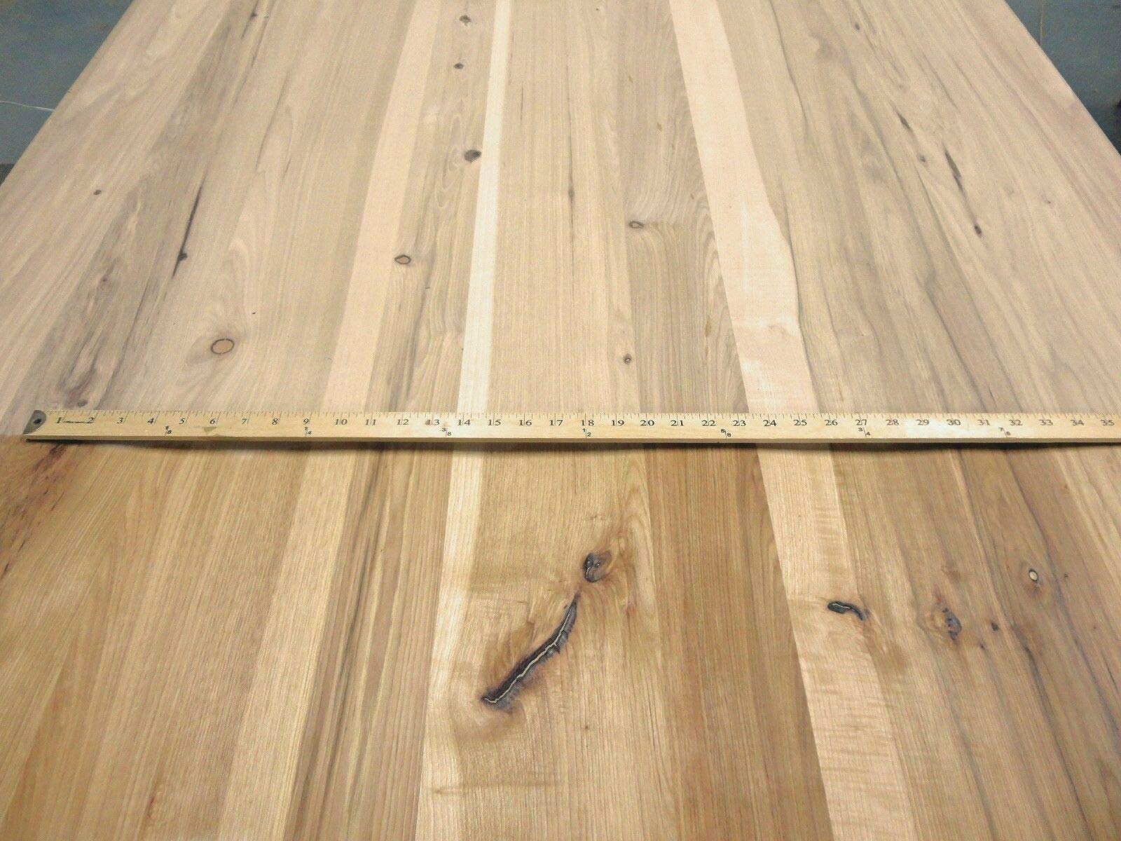 Rustic Planked Knotty Hickory Pecan wood veneer 48'' x 96'' on paper back 1/32'' by JSO Wood Products