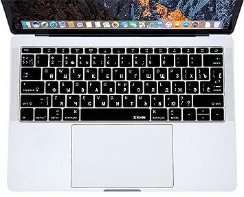 XSKN ruso/Inglés teclado teclas planas carcasa para MacBook ...