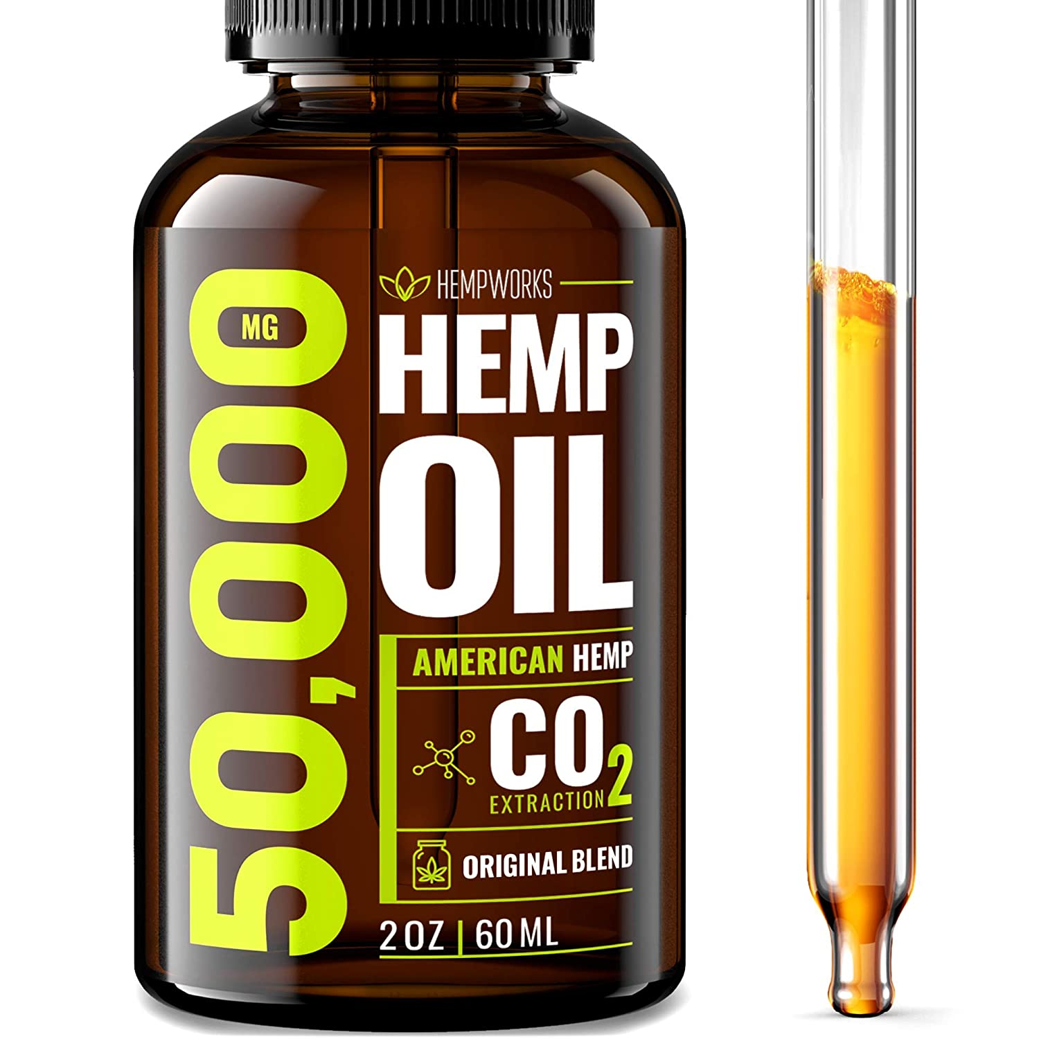 Hemp Oil 50000 MG EXTRA EFFICACY - Stress & Anxiety Relief - Made in The  USA - 100% Natural &