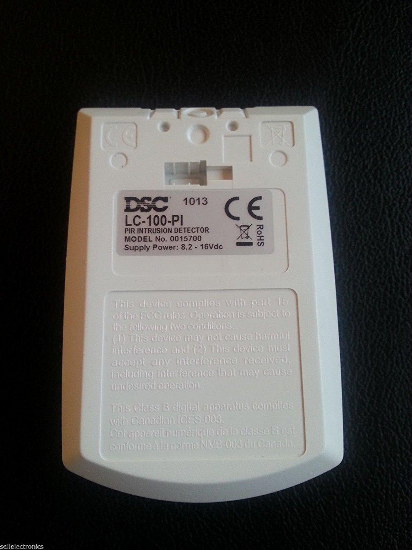 Sistema de alarma de seguridad DSC LC-100PI PIR Detector con Inmunidad para Mascotas: Amazon.es: Electrónica