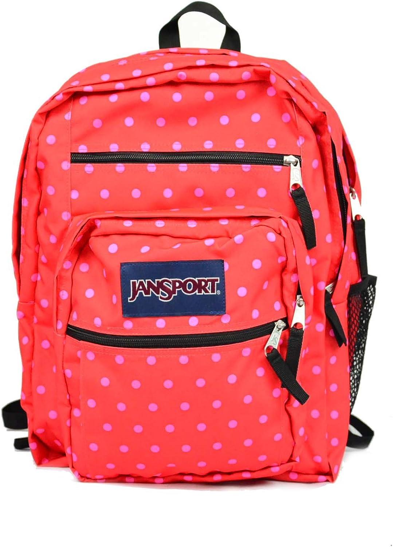 JanSport Big Student Backpack One Size, Coral Dusk Dots