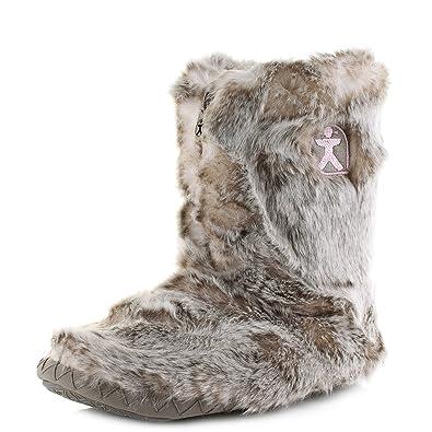 bedroom athletics women s cole luxury faux faur slipper boots rh amazon co uk Ladies Slipper Boots Fleece Lined Slipper Boots