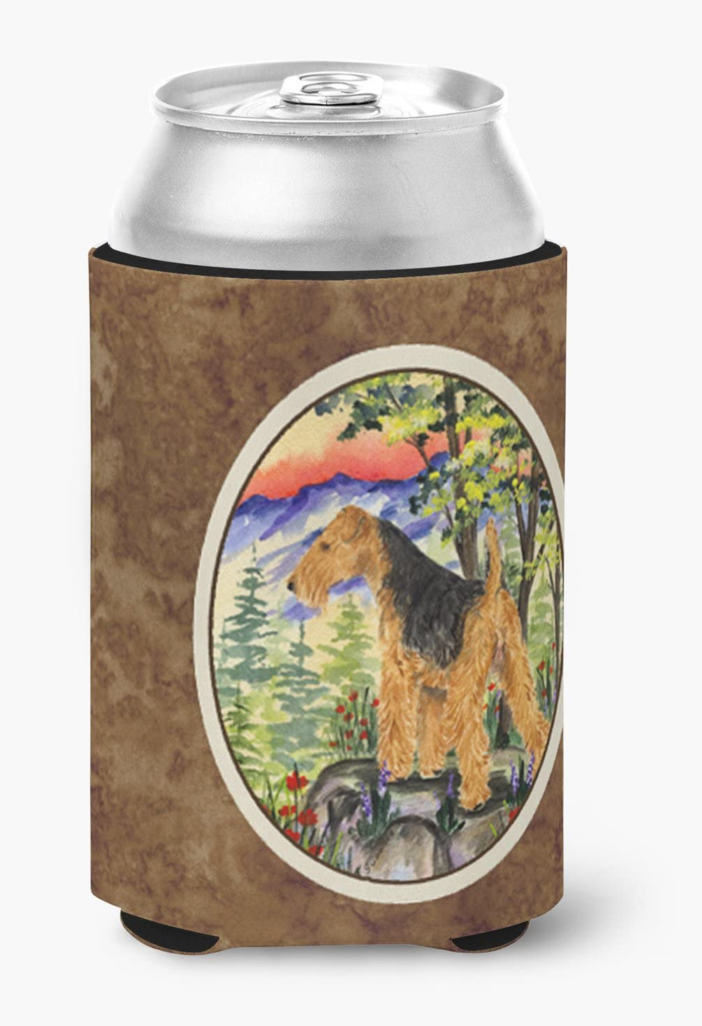 Caroline's Treasures SS8228CC Welsh Terrier Can or Bottle Beverage Insulator Hugger, Can Hugger, multicolor
