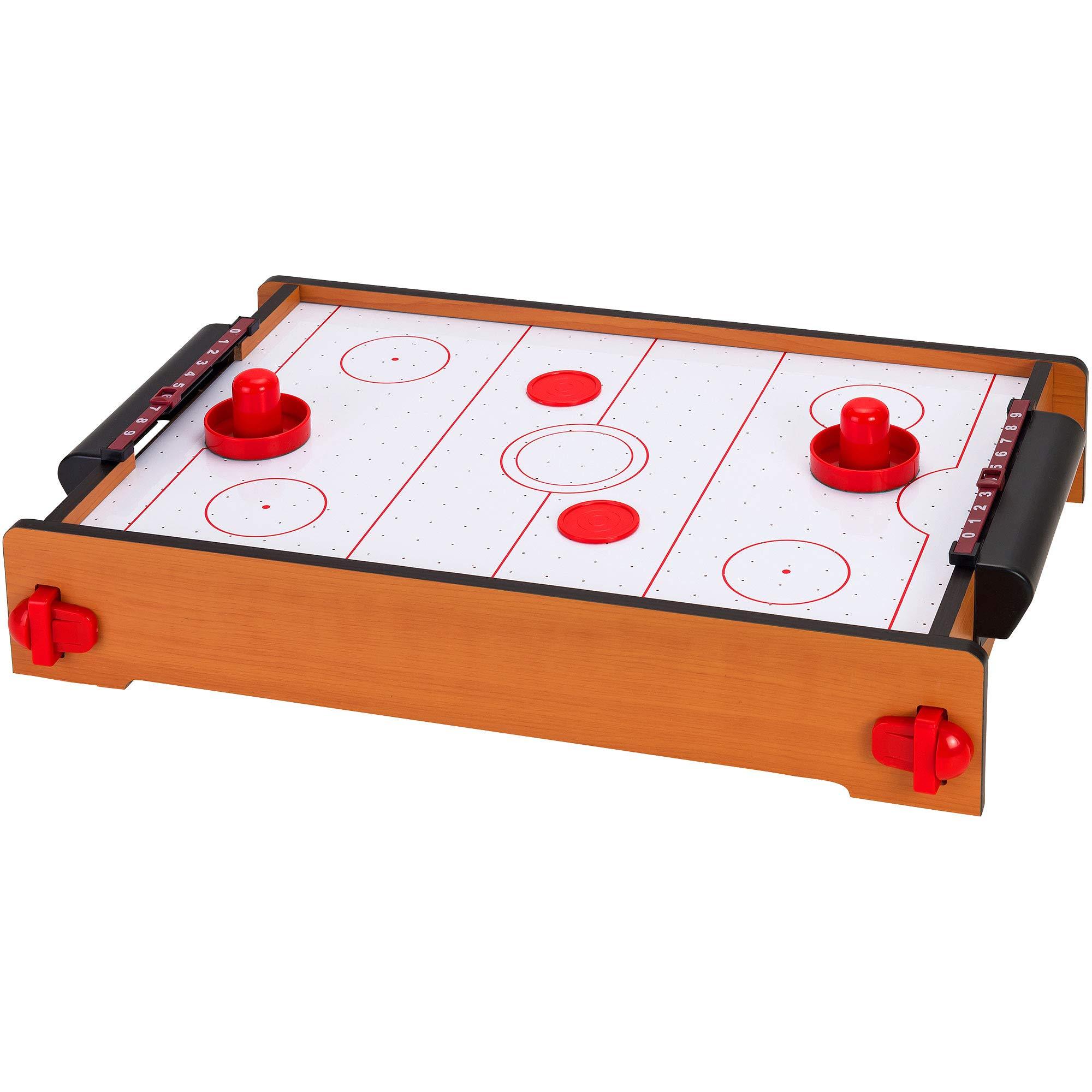 Globo Toys Globo - 37204 51 x 31 x 10.5 cm Legnoland Wooden Air Hockey Game with Printing by Globo Toys