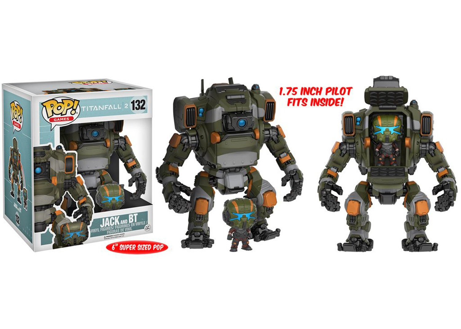 Mozlly Multipack - Funko Games Titanfall 2 Jack Pop! Vinyl Figure and BT Titan Vehicle - 6 inch Action Figure - Collectible Toy (2pc Set) (Pack of 6) - Item #S120079_X6