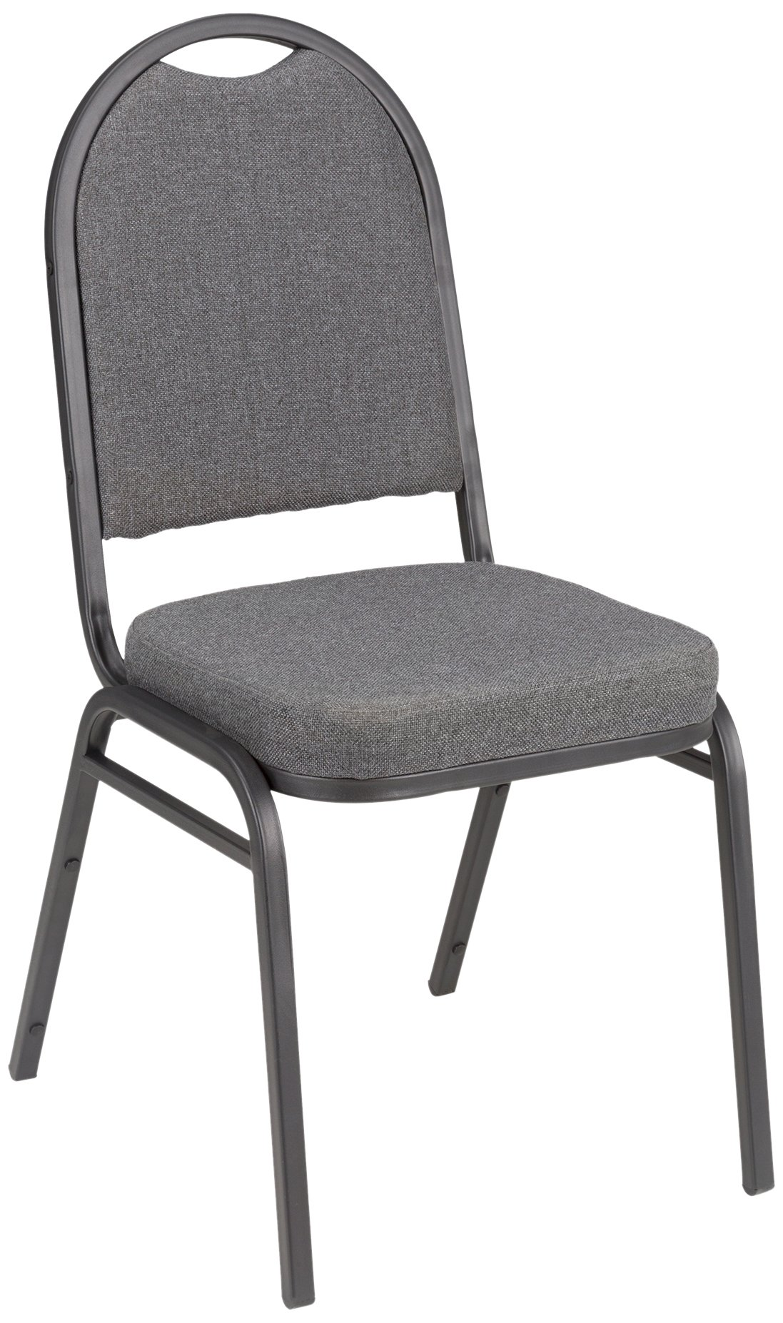 Fabric Stacking Banquet Chair with Round Back, 18'' Seat Height, Gray, ALT-200FCH-SO (Pack of 4)