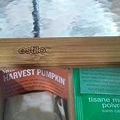 Amazon Com Estilo Bamboo Tea Storage Box 10 Equally