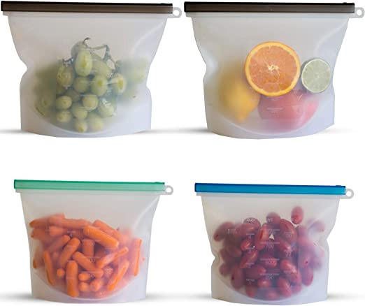 New Baby Food Storage Set of 3 Silicone Containers 4 Durable Cells,BPA FREE