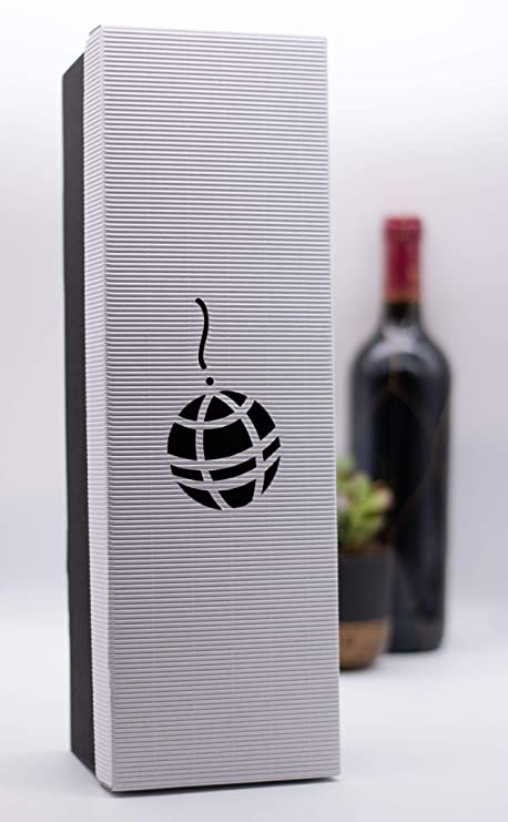 Tekla Crafts - Caja de cartón corrugado para vino White/Black#1