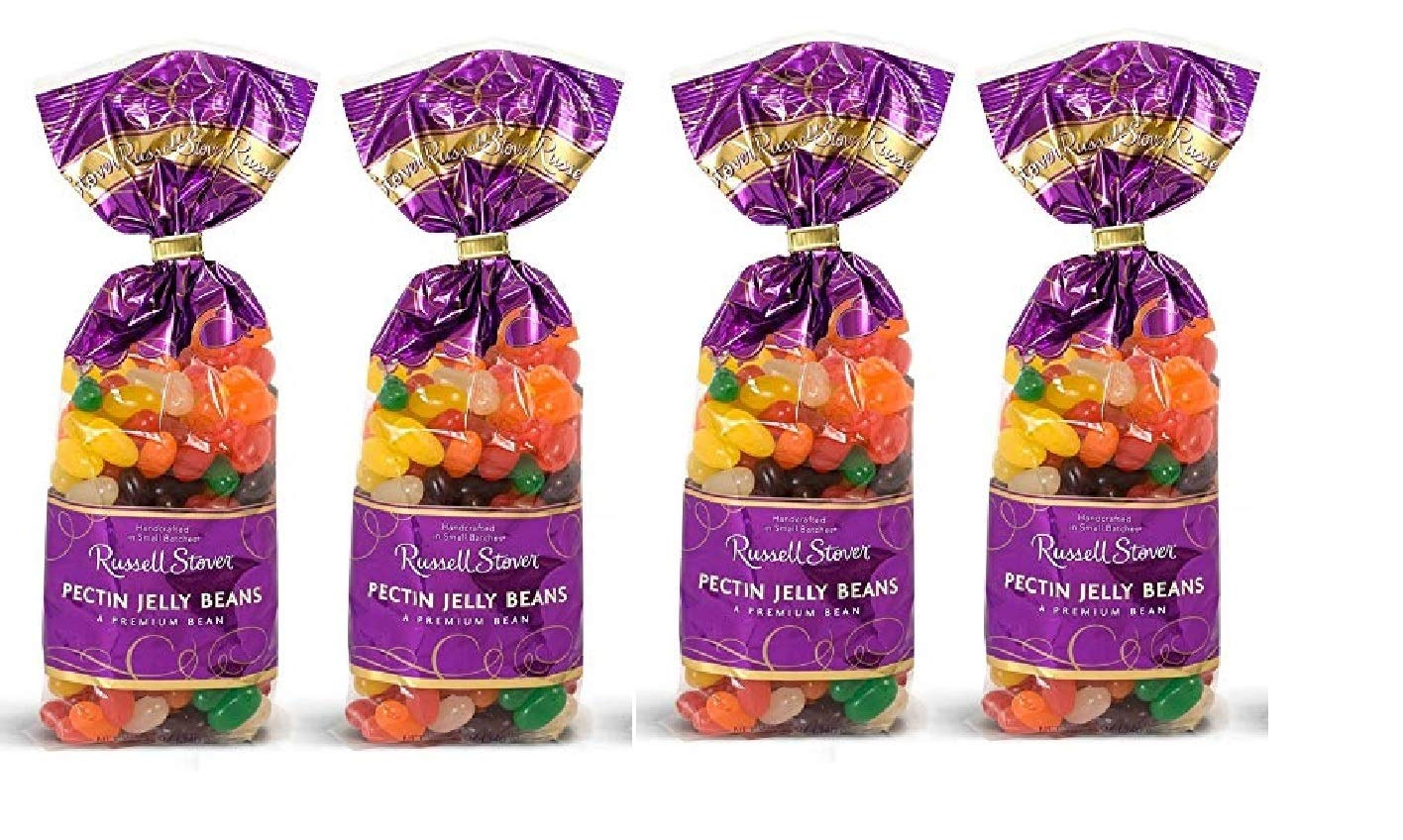 Russell Stover Pectin Jelly Beans for Easter or Any Occasion - 12 oz. Bag (4 Pack - 48 Total Oz) by Russell Stover