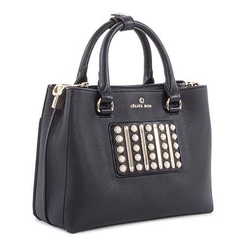 11b4abe53408 Céline Dion Maestro Satchel SCH5477 (Black)  Amazon.ca  Shoes   Handbags