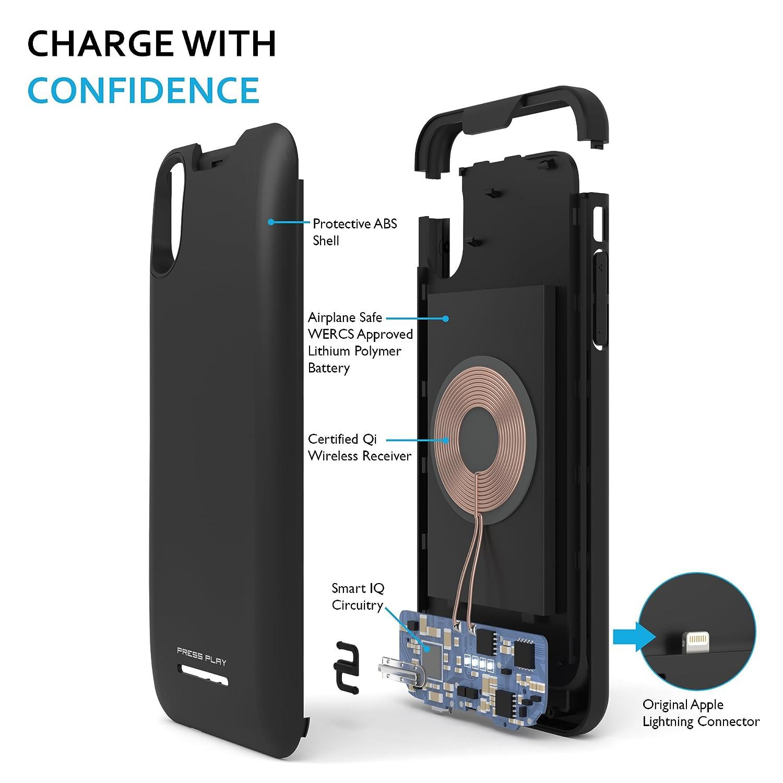 Amazon.com: iPhone X carcasa de batería, (certificación ...
