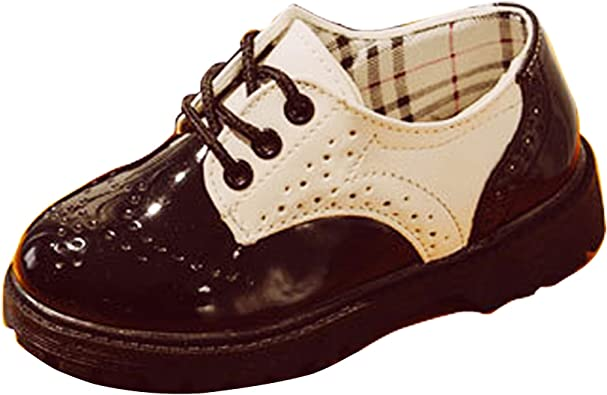 Kids Baby Boys Lace Up Leather Brogues