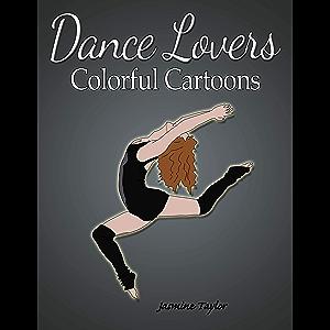 Dance Lovers Colorful Cartoon Illustrations