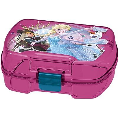 ALMACENESADAN 2000, Sandwichera Premium Rectangular Disney Frozen, Producto de plástico; Libre BPA; Dimensiones 18x14x7 cm: Juguetes y juegos