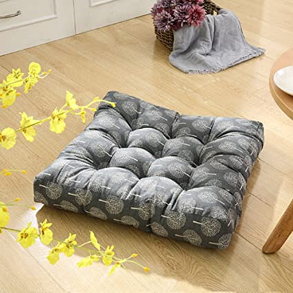 tmjj cotton linen floor pillow cushion japanese futon square seat cushion thicken chair wave window pad amazon    tmjj cotton linen floor pillow cushion japanese futon      rh   amazon