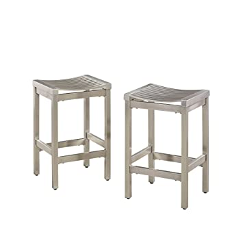 Groovy Amazon Com Pittsburgh Stainless Steel Stool Set Of 2 By Uwap Interior Chair Design Uwaporg