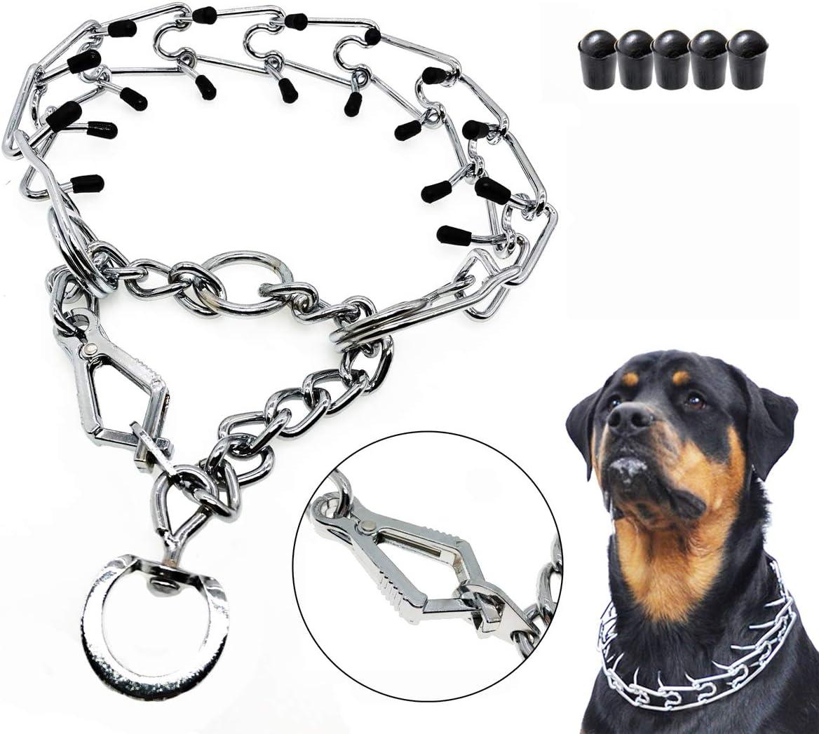 Stainless Steel Choke Pinch Dog Collar with Comfort Tips Mayerzon Dog Prong Training Collar Fish-Hook Collar