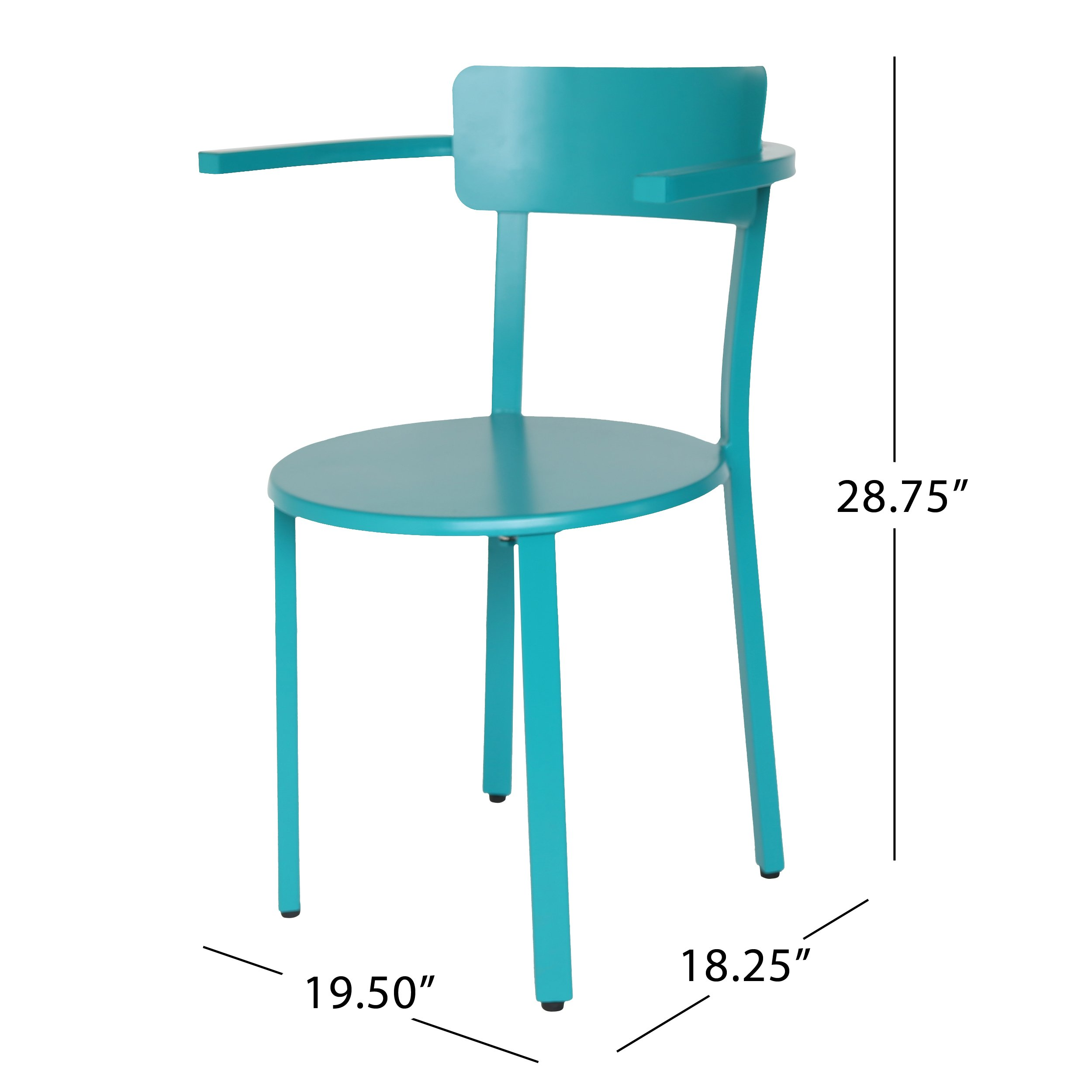 Great Deal Furniture Kate Outdoor Iron Bistro Set, Matte Teal by Great Deal Furniture (Image #9)