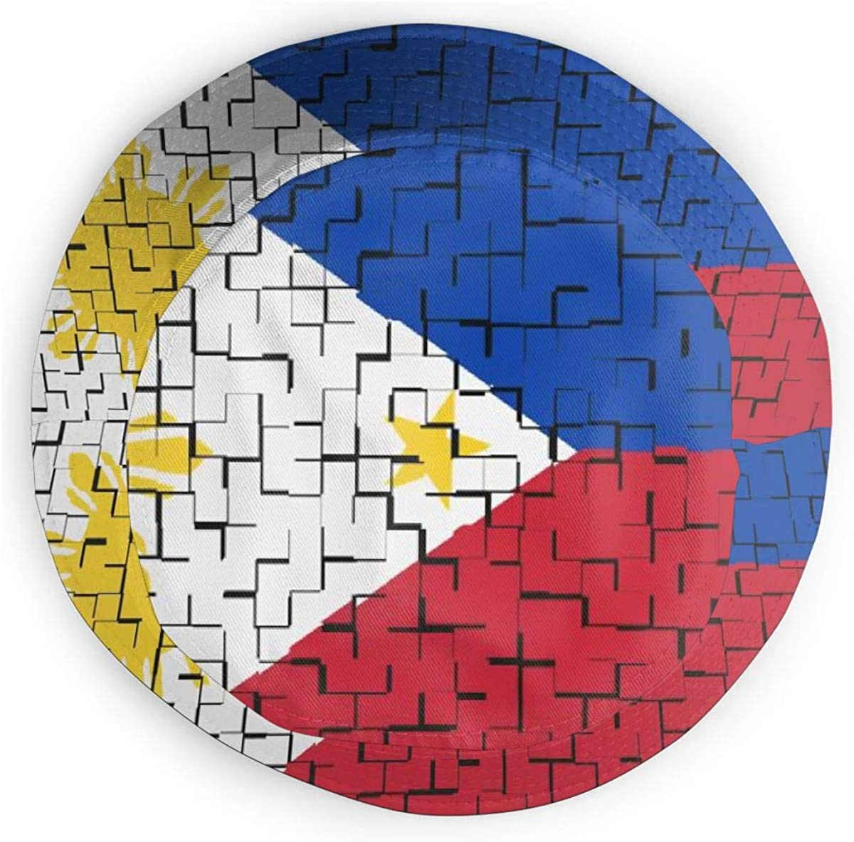Classic Trucker Mesh Cap for Unisex Boys and Girls 100/% Polyester Philippine Flag Puzzle Mesh Hat