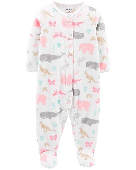 8891b8faa566 Amazon.com  Carter s Baby Girls  Animal Snap-Up Fleece Sleep   Play ...