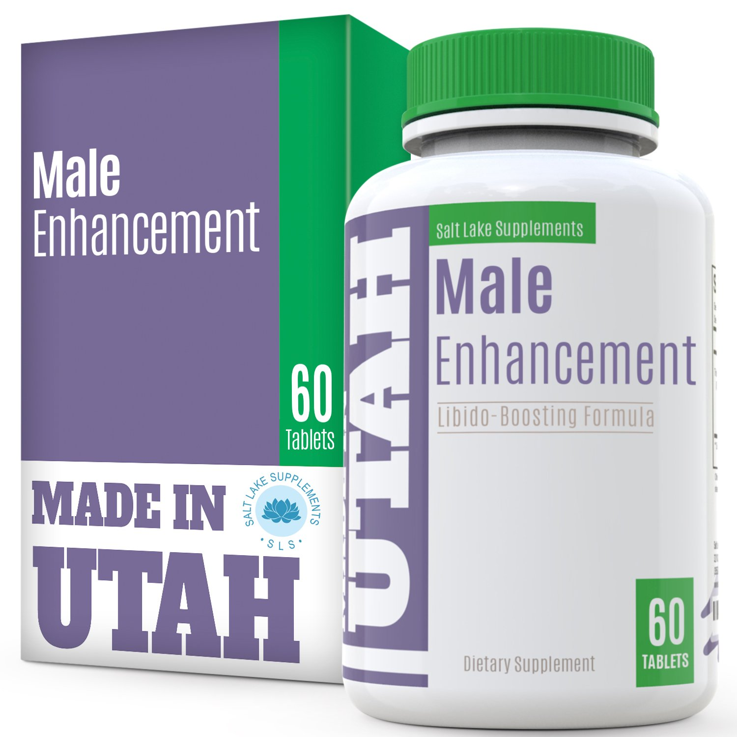 FLASH SALE - All Natural Male Enhancement Energy Boosting Formula With L-Arginine, Maca Root, Tongkat Ali & Ginseng To Improve Performance, Energy, Stamina For Pre Workout, 60 capsules