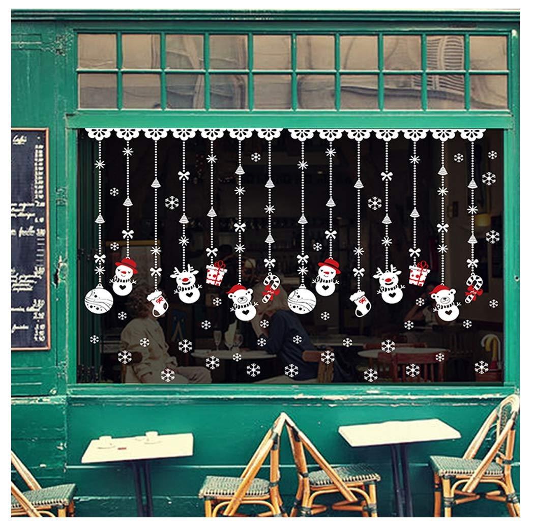 Fossrn Navidad Decoracion Pegatinas de pared Bola de nieve ...