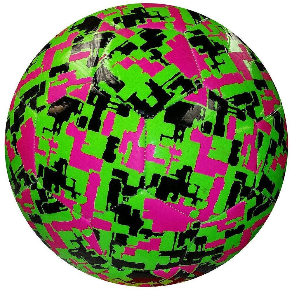 American Challenge 迷彩 六角サッカーボール B01F41XKB0 4|Kiwi/Raspberry/Black Kiwi/Raspberry/Black 4
