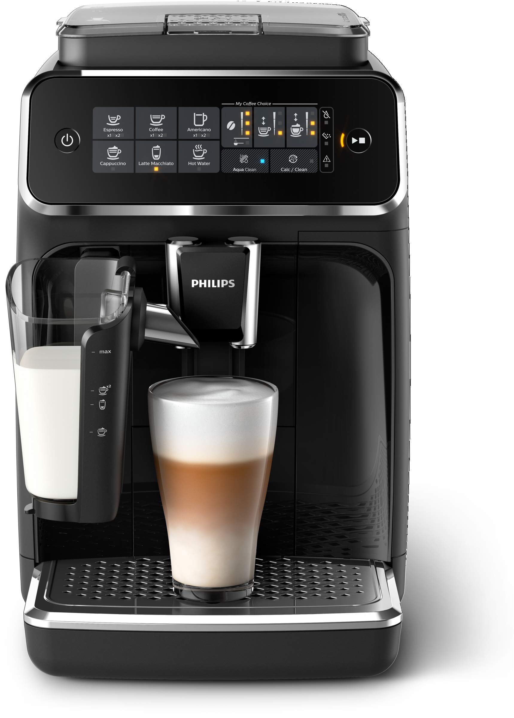 Philips 3200 Series Fully Automatic Espresso Machine w/ LatteGo, Black by Philips Kitchen Appliances