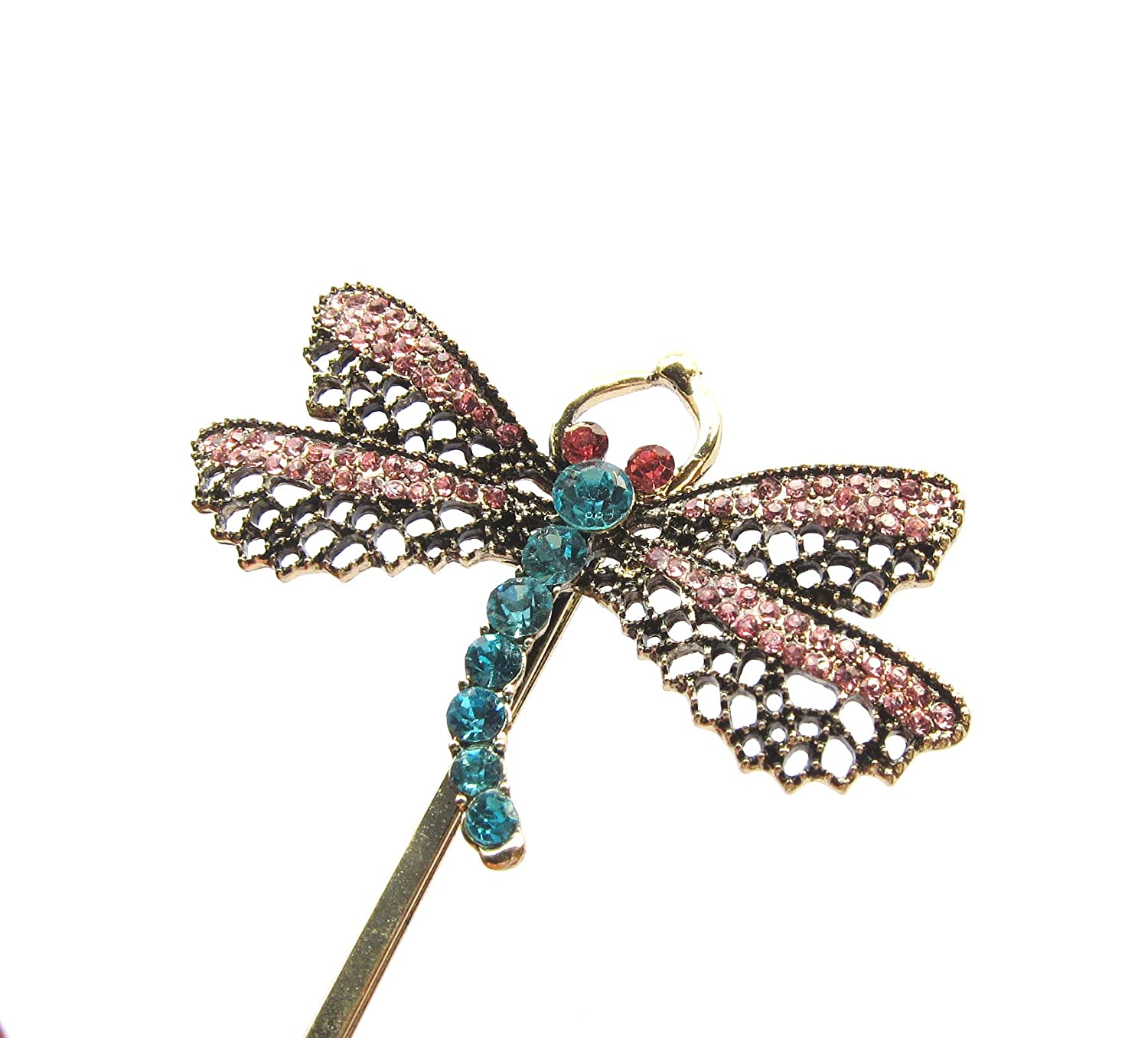 Amazon Com Coraline Dragonfly Hair Clip Hairpin Bobbypin 1 Piece Handmade