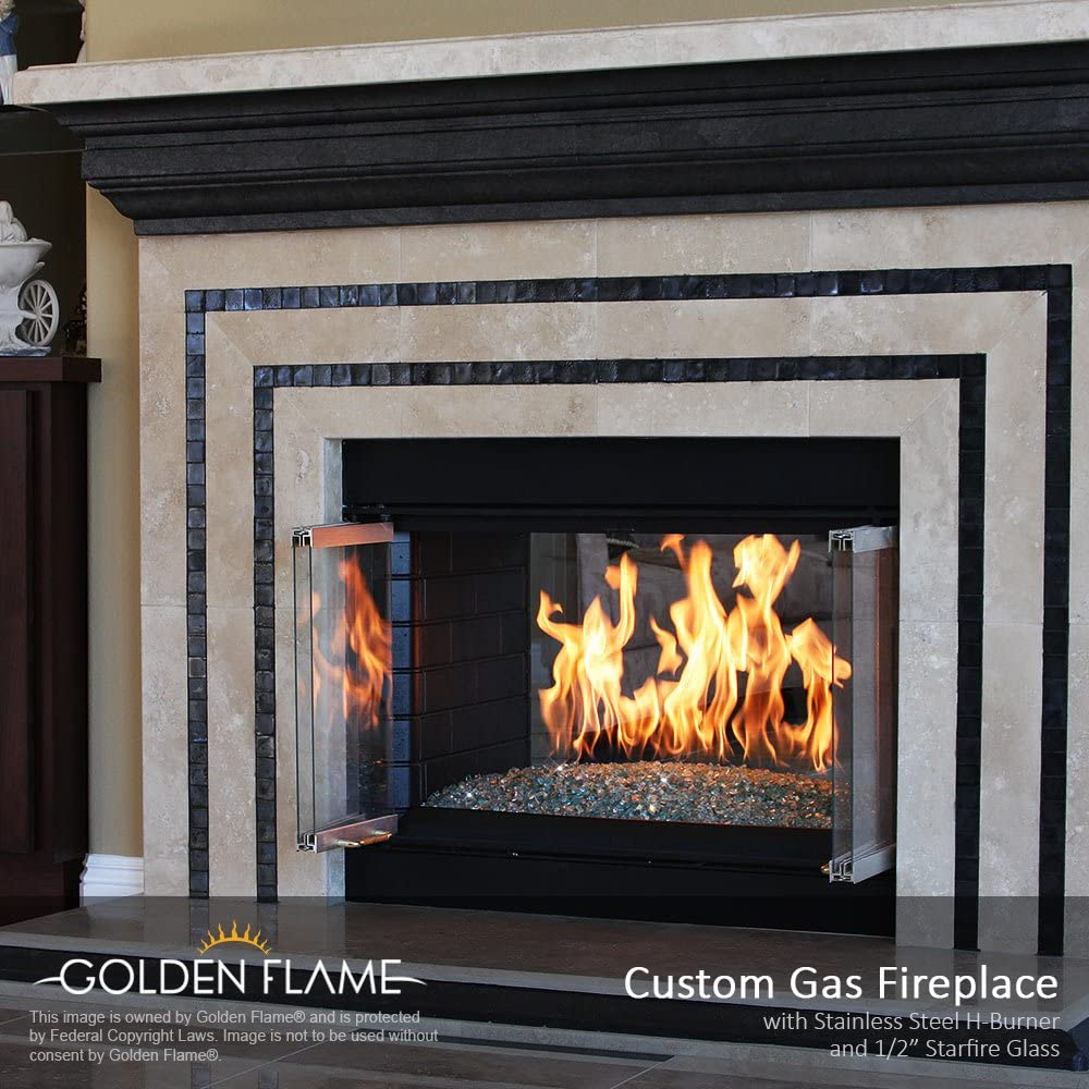 12 x 6 Fire Pit and Fireplace H-Burner w//connection kit 304 Series SS Natural Gas