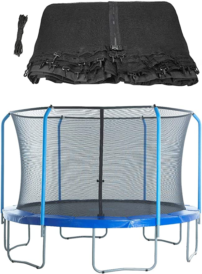 Trampoline Net for 15/' Frame 6 Pole Net Only Ring Enclosure FITS Bounce Pro
