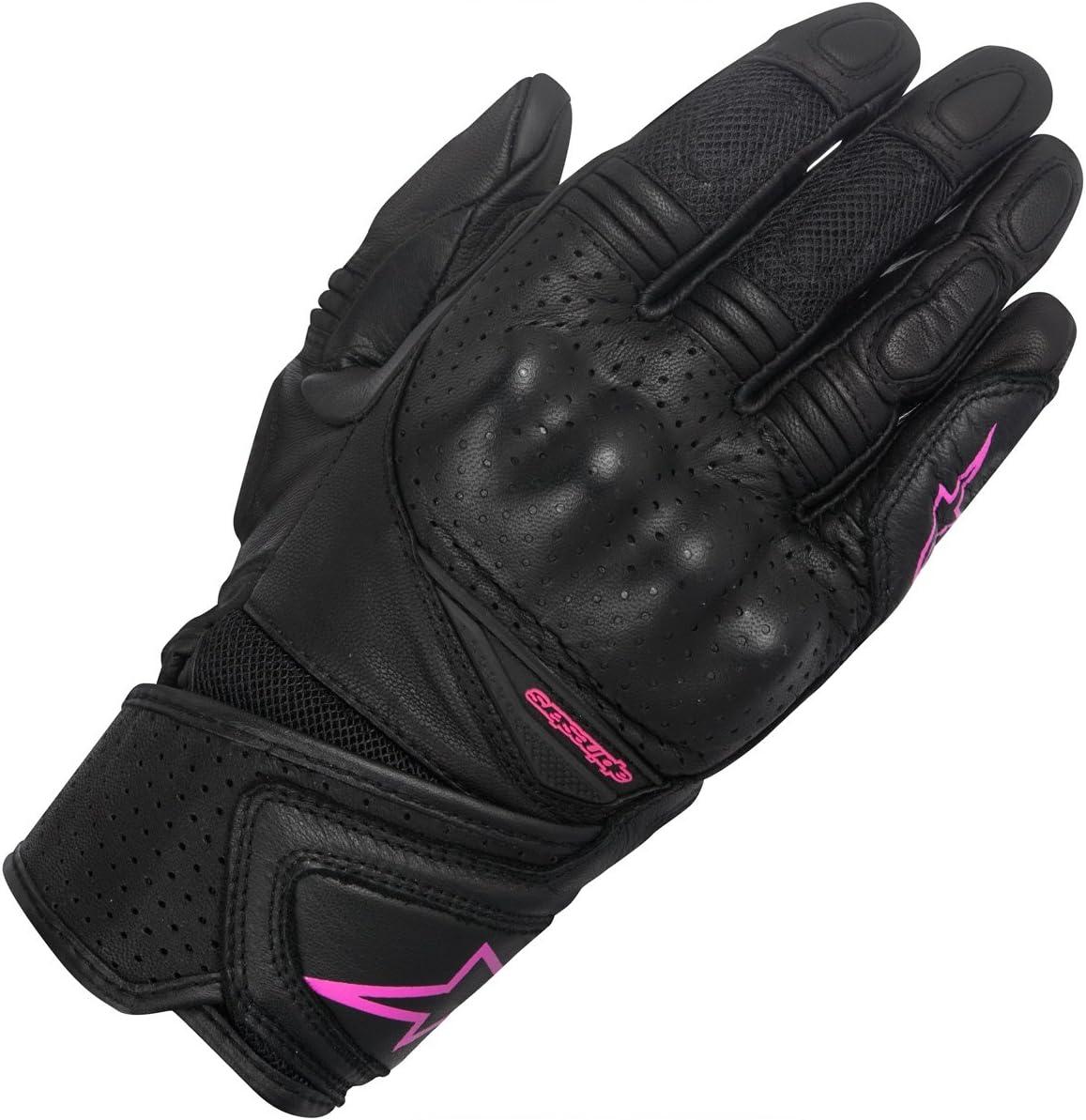 guantes de moto de cuero mujer