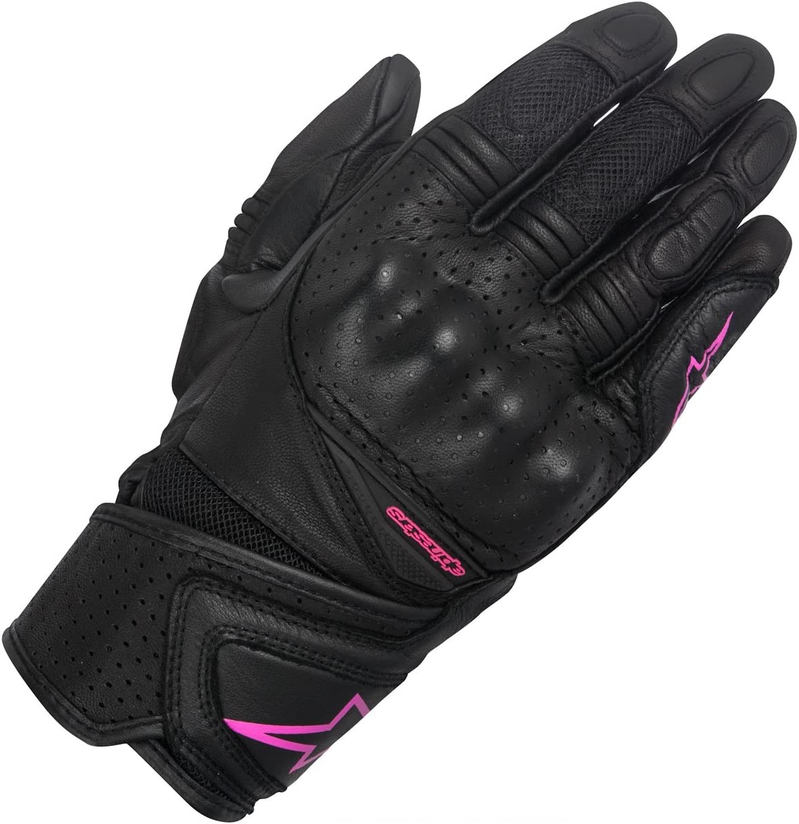 Small Alpinestars Womens Stella Baika Leather Motorcycle Riding Glove Black