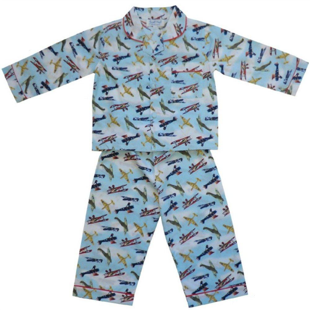 100% Cotton Pyjamas - Powell Craft - Douglas - Spitfire Vintage Aeroplanes - 6-7 years