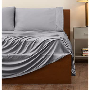 SHEEX - ORIGINAL PERFORMANCE Sheet Set with 2 Pillowcases, Ultra-Soft Fabric Transfers Body Heat and Breathes Better than Traditional Cotton, Graphite (King/Cal King)